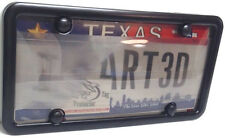 Smoked Anti Photo Radar License Plate Cover and Metal Frame Combo w/ Bolt Caps