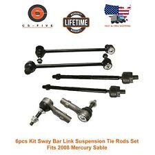 6Pcs Kit Sway Bar Link Suspension Tie Rods Set Fits 2008 Mercury Sable