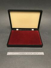 Nice Vintage Plastic Coin Case With Velvet Insert And Foam Top