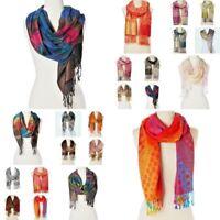 Pashmina Shawl Wrap Women Long Silk Scarf Blanket Oversized Cozy Cashmere Wool