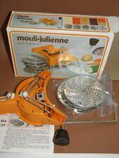Vtg Moulinex 445 Mouli-Julienne 5 disc Slicer Shredder France Open Box Free Ship