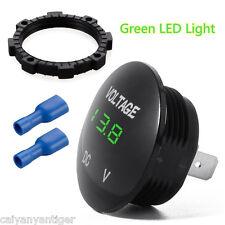 Waterproof 12V Car Motorcycle Green LED Voltage Meter Digital Display Voltmeter