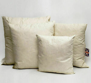 Pack Of 3 Duck Feather Cushion Pads Inner Inserts Fillers Scatters-All Sizes