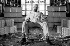 BREAKING BAD ~ ALL HAIL THE KING 24x36 TV POSTER Bryan Cranston NEW/ROLLED!