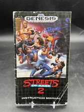 Streets Of Rage 2 Sega Genesis Instruction Manual Booklet Only