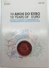 Portogallo 2 euros 2012 TYE 10 Anni Of Euro € COINCARD BNC BU