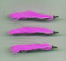 Trout Flies: Snake Flies. Pink Lady Marauder x3 Tied in the UK:size 8 (code 520)