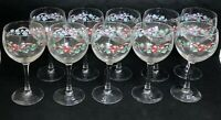 Corelle Corning CALLAWAY HOLIDAY 10 Goblets 10 Ounce EXCELLENT!!!