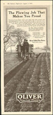 1918 Oliver Tractor Plows`Art Prices Trees Gardens (041617)