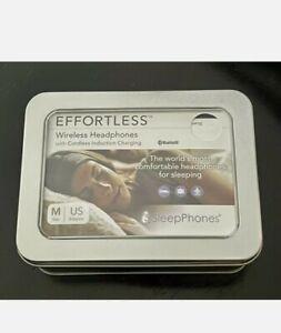 AcousticSheep SleepPhones Effortless Wireless Headphones Size M Soft Gray NIB