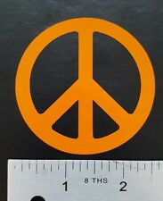 "Lot of 3-  2.5"" ORANGE PEACE SIGN decals or stickers vinyl cut, car, laptop ect."