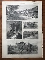 The French Invasion Of Anam.  Wood Engraving, 1883.
