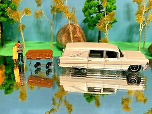 Hearse, Funeral, Grave, Car, Phantom Coaches, 1963 Cadillac, 1/64, Coffin White