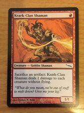 MTG 1x Krark Clan Shaman Mirrodin Set Goblin Creature Red Mountain Magic Card