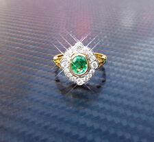 Emerald Oval Fine Diamond Rings