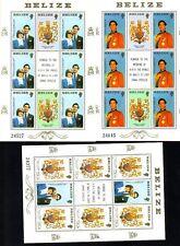 Belize Michelnummer 560 - 562 drei Kleinbogen postfrisch (Royal Wedding 71)