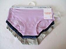 Calvin Klein girls 3 pack cotton hipster panties size M 7-8