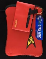 "Star Trek TOS Red iPad/Tablet Foam Slip Case & Coin Purse ~10x7.5"" (2014)"