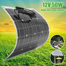 50W 12V Mono Solar City Semi Flexible Solar Panel Battery Charger For Car Boat