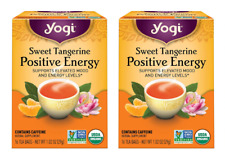 Yogi Sweet Tangerine Positive Energy Tea - 2 Boxes - 32 Tea Bags