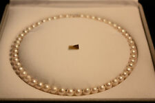 COLLIER PERLES DE CULTURE VERITABLES  7.5-8 MM  EN OR 750/000
