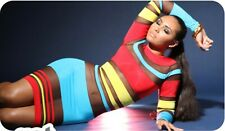 ORIGINAL Charles Chic Candy Stripe Mesh Dress Keyshia Kaoir Shaniece Lozada