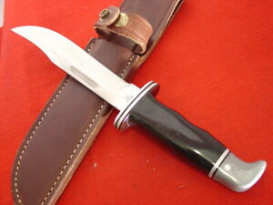 "Buck USA Made Pre 1986 10-1/2"" 119 SPECIAL Fixed Blade Sheath Knife"