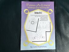 Form A Lines Stitching/ Pricking Patterns Christmas 12 Patterns Only