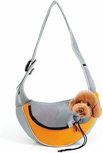 Small Dog And Cat Sling Carrier Breathable Mesh Travelling Pet Puppy Hands-Free