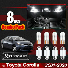 Car Interior LED Dome Trunk Map Lights Kit Bulbs For Toyota Corolla 2001-2020