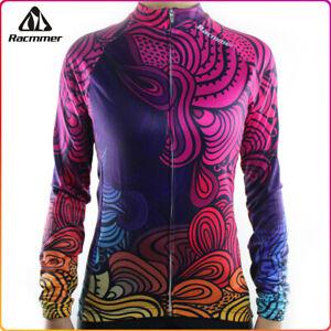 Racmmer Women Long Sleeves Cycling Jersey