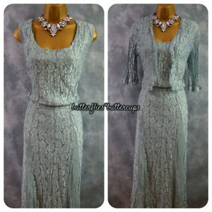 Beautiful Lace Shimmer Dress & Jacket Size 22 BNWT Suit Mother of the Bride