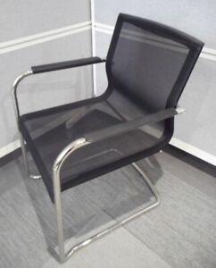 ICF Stick ATK Black Low Mesh Back Meeting Chair