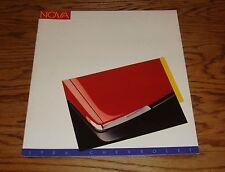 Original 1986 Chevrolet Nova Sales Brochure 86 Chevy
