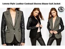 Women's Casual Biker Button Hip Length Coats & Jackets