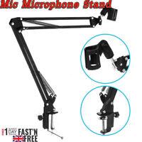 Mic Microphone Suspension Boom Scissor Arm Stand Holder For Studio Broadcast PN