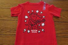 Boys SS Shirt Sz 12 mo Red ROCK DOG Everyday 100% Cotton Children Place NWT
