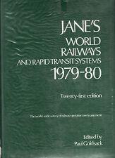 JANE'S  WORLD RAILWAYS & RAPID TRANSIT SYSTEMS 1979 - 80 - GOLDSACK  trains