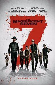 "The Magnificent Seven movie poster (b) (2016)  -  11"" x 17"" - Denzel Washington"