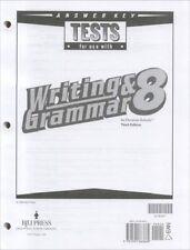 BJU Press Writing & Grammar 8 Tests Answer Key - 218347