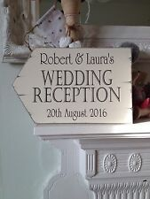 Personalised Vintage Wedding Reception Sign