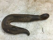 8 Inch Antique Wrought Iron Blacksmith Hook and Eyelet Hand Forged