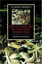 Book Cambridge Companion to the Literature of the First World War One WWI WW1