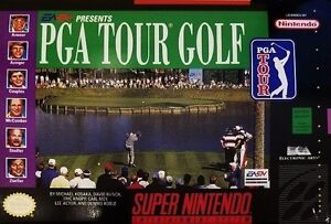 PGA Tour Golf SNES Great Condition Fast Shipping
