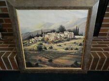 Tuscan Village Oil Painting Sambataro 24 X 24
