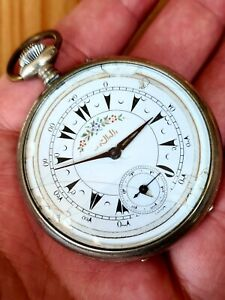 LONGINES OTTOMAN EMPIRE POCKET WATCH VERY RARE FOR TURKISH MARKET WORKING COND