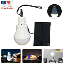 Portable Solar Powered LED Bulb Panel Lighting Tent Lights Indoor Outdoor USA