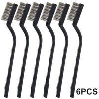 6PC 6Pcs Mini Wire Brush with Brass and Stainless for Cleaning Welding Slag and Rush