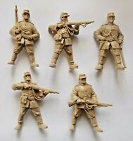 Set of 5 Russo-Turkish War 1877 Toy Plastic Russian Soldiers 54 mm 1/32 TEHNOLOG