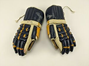 RARE 1970s St. Louis Blues GAME USED Hockey Gloves NHL